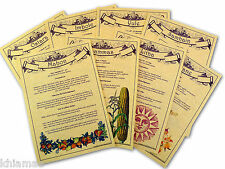WICCAN FESTIVALS Set of 8 A4 Parchment Pages pagan book of shadows BOS sabbats