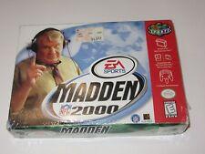 N64 Nintendo 64 Madden 2000 Football Sealed Brand New CIB Complete in Box