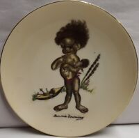Vintage Brownie Downing Picaninny Ceramic Wall Plate c1950s 15.5cm Wide