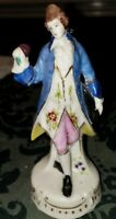 EUC! Vintage Victorian Colonial Porcelain Figurine Man Hat in hand Made In JAPAN