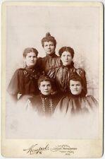 5 WELL DRESSED SISTERS WEST POINT, NEBRASKA, CABINET PHOTO