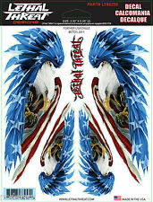 """Lethal Threat USA Eagle Decal Sticker Size (2) 2.5""""x 6.28"""" & (2) 4""""x1.5"""""""