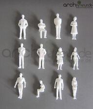 25 x Stehende Figuren, weiß unbemalt, für Modellbau 1:50, Modelleisenbahn Spur 0