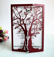 Laser Cut Tree Wedding Invitation Card for Rustic Party,Engagement Marriage