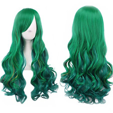 Green Wig Halloween Costumes for Women Long Curly Hair Wigs Harajuku Lolita Wig