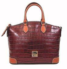 New Dooney & Burke Large Croc-Embossed Leather Tote-Hand/shoulder Bag-Satchel