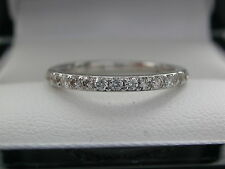 0.36ct Diamond Half Eternity Ring. Safeguard Report, THIN BAND RING 1.70mm WIDE