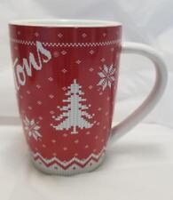 Tim Horton's 2015 Red & White Snowflake Sweater Mug Limited Edition NEW