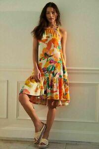 Daily Practice by Anthropologie Frida Cross-Back Midi Dress Size S runs big