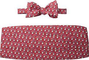 Vineyard Vines Men's Snowman Silk Bow Tie Cummerbund Set