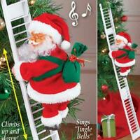1*Animated Musical Santa Claus Electric Climbing Ladder Up Tree Christmas Decor