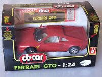 PRL) FERRARI GTO CBCAR VINTAGE RARITà RAR RARO 1:24 METAL DIE CAST ANNI 1980