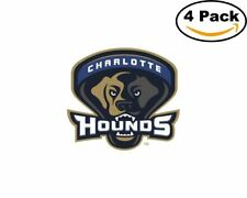 Lacrosse Charlotte Hounds Logo 4 Stickers 4X4 Inches Sticker