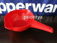 Tupperware 1 Qt Classic Colander Strainer Pour Spouts Red New in Package