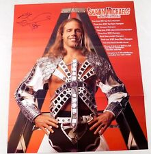 Shawn Michaels Signed 21x24 WWE Wrestling Poster Wrestler 2-Sided HBK Autograph