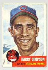 1953 Topps #150 HARRY SIMPSON -- Cleveland Indians -- Excellent-Mint