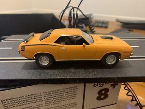 Carrera Evolution Plymouth Hemi Cuda 1970 Slot Car Orange Black #25463