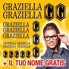 KIT GRAZIELLA 19 ADESIVI BICI CICLISMO STICKERS DECAL + NOME GRATIS
