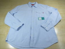 SUPREME OXFORD BUTTON UP LONG SLEEVE SHIRT BLUE RED BOX LOGO XL CDG SHIBUYA