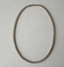 ".925 Solid Silver Necklace 21 & 1/2"" Roller Ball Chain 52.6g"