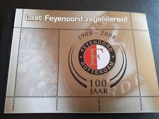 Feyenoord Rotterdam Zegelvieren 1908-2008, 100 Years nice Football/Soccer stamps