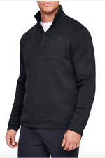 Under Armour UA Specialist Henley Sweater Fleece 2.0 1316276-001 Black