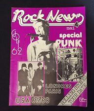 "1976 ""Rock News""#4 French Punk rock Magazine London Punk Rock scene Sex Pistols+"