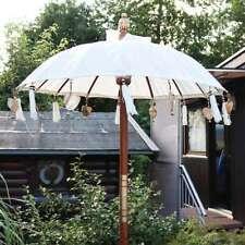 Bali Sonnenschirm Balinesischer Schirm Garten Baumwolle Sonnenschutz Handarbeit