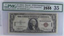 1935 A PMG CERTIFIED CH VF 35 HAWAII - WWII EMERGENCY ISSUE Fr#2300 DOLLAR #2555