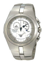 SEIKO Arctura Kinetic Chronograph SNL005 SNL005P1 Mens Sapphire Titanium Watch