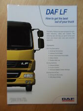 DAF TRUCKS LF Series how to get the best out of your truck glossy Guide Brochure