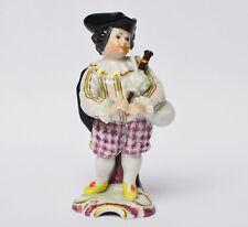 Máximo de porcelana figura gaiteros gaita de foles knabenkapelle altura 13 cm