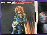 NEIL DIAMOND Hot August Night 2LP '72 MCA 2-8000 Gatefold Vinyl Record EX