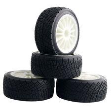 RC HPI 107870 White Rim Tires&Wheel 4PCS sets For Electric WR8 Flux
