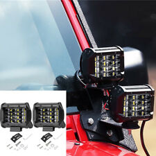 36W 4-Row Cree 12 LED Flood Work Light IP68 Off-road Lamp for Truck SUV Jeep 2X