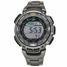 Casio PROTREK PRG-240T-7DR Titanium Triple Sensor Solar Digital Men's Watch