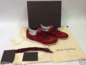 New Boxed Authentic LOUIS VUITTON Red Curve Sneakers EU Size 43 With Receipt