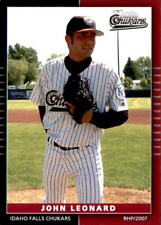 2007 Idaho Falls Chukars Grandstand 17 John Leonard Virginia Beach Baseball Card