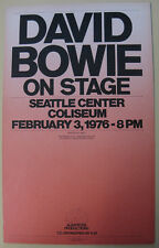 DAVID BOWIE Seattle Center Coliseum 1976 ORG Cardboard CONCERT POSTER Beautiful