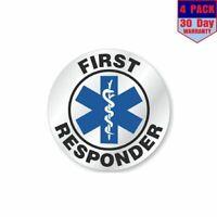 First responder Label 4 Stickers 4x4 Inch Sticker Decal