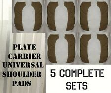 5 SETS EAGLE USMC UNIVERSAL PLATE CARRIER SHOULDER PADS STRAPS COYOTE TAN NEW