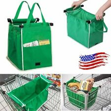 Eco Reusable Shopping Bag Foldable Grocery Storage Tote Bag for Trolley Carts