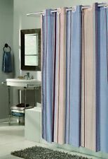 """""""Ez On"""" Fabric shower curtain with built in shower curtain hooks:  size 70"""" w..."""