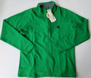 Notre Dame Womens Green Full Zip Sweatshirt Jacket NWT Organic Cotton SIZE LARGE