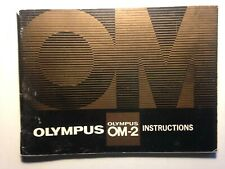 Olympus OM-2 camera Instructions manual - ANGLAIS