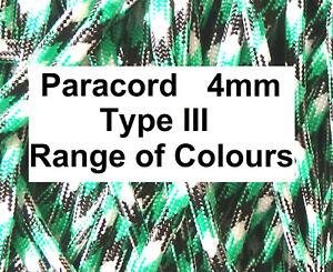 🇬🇧 PARACORD cord rope string line 4mm Type III 550 sailing lanyard corde UK