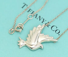 TIFFANY&Co Dove Bird Pendant Necklace Picasso Silver 925 #2445