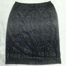 BCBG Max Azria stretch pensil mini skirt 8 semi sheer dots RN 80734 CA 31458