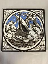 Minton Tile Co. Morte d'Arthur Art Tile, Arts & Crafts, Art Pottery, 6x6