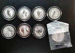 2012-2019 Australia Kookaburra Lunar Privy Collection 8 Silver 1 Oz Australian